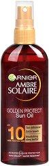 Garnier Ambre Solaire Golden Protect Oil - Слънцезащитно олио спрей - нокторезачка