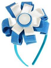 Диадема с декорация - Синьо цвете - продукт