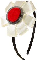 Диадема със сатенена декорация - Цвете -