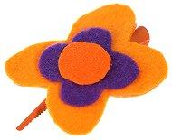 Фиба - щъркел за коса с декорация от филц - Цвете -