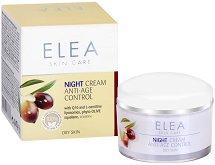 Elea Skin Care Night Cream Anti-Age Control - Възстановяващ нощен крем за лице против бръчки с Q10 - серум