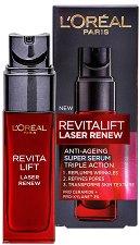 "L'Oreal Revitalift Laser Renew Anti-Ageing Super Serum - Серум против стареене от серията ""Revitalift Laser Renew"" - серум"
