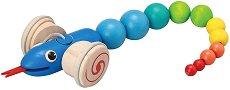 Змия - Дървена играчка за дърпане -