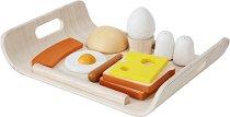 Продукти за игра - Закуска - Комплект дървени играчки -