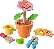 Саксия с цвете - Дървена играчка -