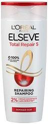 Elseve Total Repair 5 Shampoo - Възстановяващ шампоан за изтощена коса - дезодорант