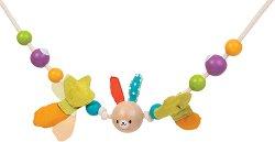 Дрънкалка - Зайче - Играчка за детска количка и легло - играчка