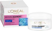 """L'Oreal Hydra Expert 24h Normal & Mixed Skin - Хидратиращ крем за нормална и смесена кожа от серията """"Hydra Expert"""" - шампоан"""