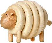 Овца - Дървена играчка за нареждане - играчка