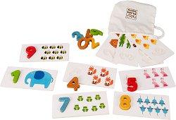 Преброй животните - Образователна игра с цифри и карти -