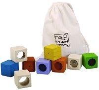 Активни кубчета - Образователни играчки в памучна торбичка -