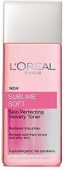 """L`Oreal Sublime Soft Velvety Toner - Почистващ тоник за суха кожа от серията """"Sublime Soft"""" - продукт"""