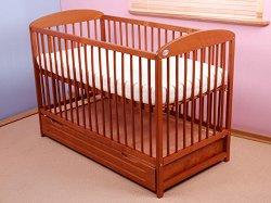 Бебешко креватче с чекмедже - Pawelek - Цвят тик -