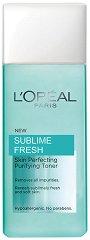"L`Oreal Sublime Fresh Purifying Toner - Тоник за нормална и смесена кожа от серията ""Sublime Fresh"" - тоник"