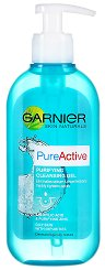 Garnier Pure Active Purifying Cleansing Gel - Почистващ гел за лице с помпа - дезодорант