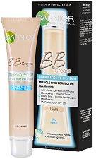 """Garnier BB Cream Miracle Skin Perfector Oil Free - Крем за изравняване на тена за мазна към смесена кожа от серията """"Skin Naturals"""" - самобръсначка"""