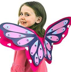 Пеперудени крила - Творчески комплект за оцветяване -