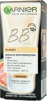 """Garnier Skin Naturals BB Cream Classic - SPF 15 - BB крем за изравняване на тена от серията """"Skin Naturals"""" -"""