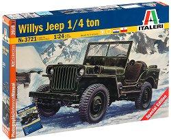 Военен джип - Willys Jeep 1/4 ton - Сглобяем модел -