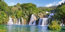 Водопадите в Крък, Хърватия - панорама - пъзел