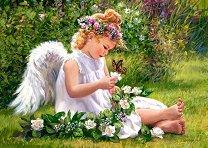 Градински ангел - пъзел