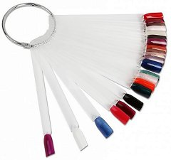Emmi-Nail Acryl-Tips am Ring - Халка с 24 броя безцветни плочки за презентация на цветове и декорации - продукт