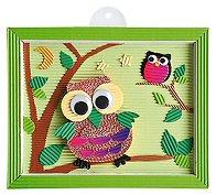 Направи самa - Картина с бухал от картон - Творчески комплект - играчка