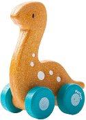 Динозавър - Диплодок - Дървена количка -