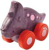 Динозавър - Трицератопс - Дървена количка -