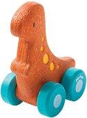 Динозавър - Тиранозавър Рекс - Дървена количка -