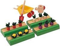 Зеленчукова градина - Дървени аксесоари за къща за кукли -