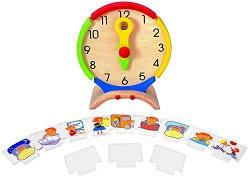 Часовник - Дръвена образователна играчка - играчка