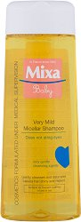 "Mixa Baby Very Mild Micellar Shampoo - Нежен мицеларен бебешки шампоан без сапун от серията ""Mixa Baby"" - тампони"