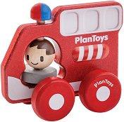 Пожарна кола - Дървена играчка - играчка