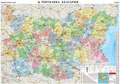 Стенна административна карта на Република България - M 1:380 000 -
