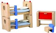 Детска стая - Нео - Дървено обзавеждане за къща за кукли - играчка