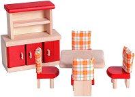 Трапезария - Нео - Дървено обзавеждане за къща за кукли - играчка