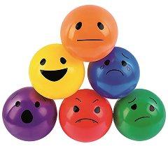 Емотикони - Комплект от 6 топки - образователен комплект