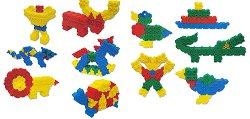 """Цветове и форми - 200 части - Детски конструктор от серията """"Junior"""" - играчка"""
