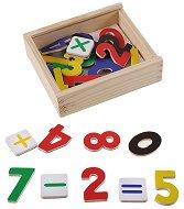 Магнитни цифри в дървена кутия - фигура
