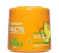 Garnier Fructis Oil Repair Mask - Маска за суха и увредена коса с комплекс от 3 масла - крем