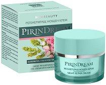 "Bodi Beauty Pirin Dream Night Repair Cream - Регенериращ нощен крем за лице от серията ""Pirin Dream"" - пяна"