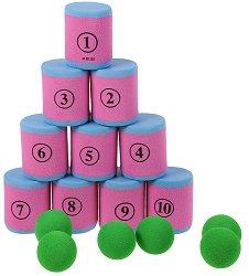 Събори всички цилиндри - Детска спортна игра -
