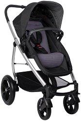 Комбинирана бебешка количка - Smart Lux Black Grey - С 4 колела -