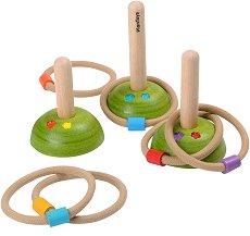 Рингове и колчета - Дървена играчка - играчка