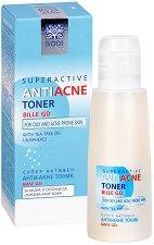 """Bodi Beauty Bille-GD Superactive Anti-Аcne Toner - Анти-акне тоник за лице от серията за проблемна кожа """"Bile-GD"""" - маска"""