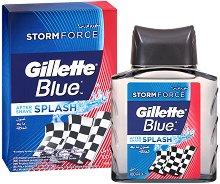"""Gillette Series Blue Storm Force After Shave Splash - Лосион за след бръснене от серията """"Series"""" -"""