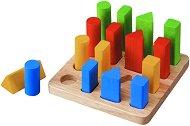 Дъска с геометрични форми - Детска играчка - хартиен модел
