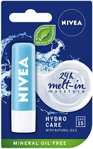 Nivea Hydro Care Lip Balm - Хидратиращ балсам за устни - четка
