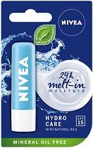 Nivea Hydro Care Lip Balm - SPF 15 - Хидратиращ балсам за устни - серум